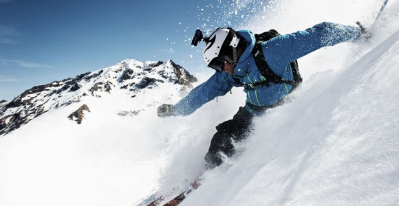 Skier using the Ion Air Pro camera