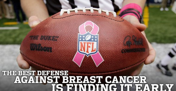 The NFL is raising breast cancer awareness.
