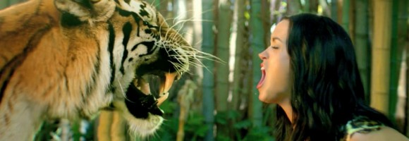 Katy Perry's music video with tiger