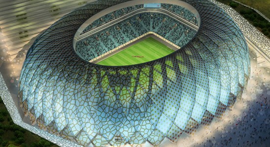 Qatar plans to build a total of 12 new stadiums for the FIFA World Cup 2022, this being one of them.