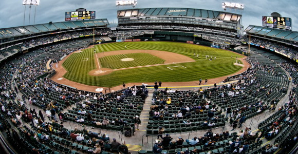 The Oakland A's stadium.