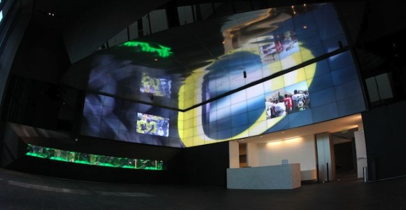 145,000 square foot video board at University of Oregon's Hatfield-Dowlin Complex