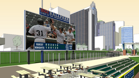 BB&T Ballpark's Video Board