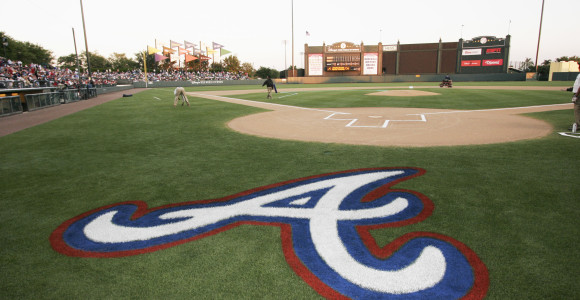 Behind Atlanta Braves' Homeplate
