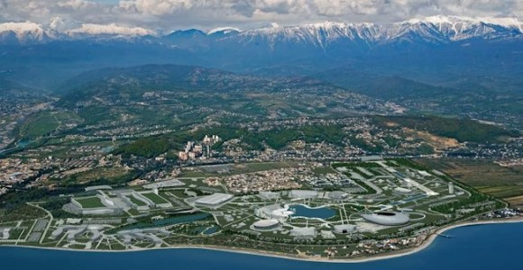 Sochi Olympic Park on coast of Black Sea